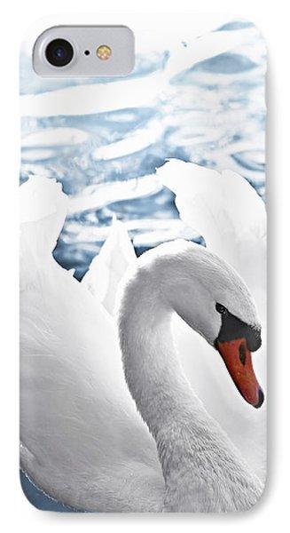 White Swan On Water IPhone Case by Elena Elisseeva