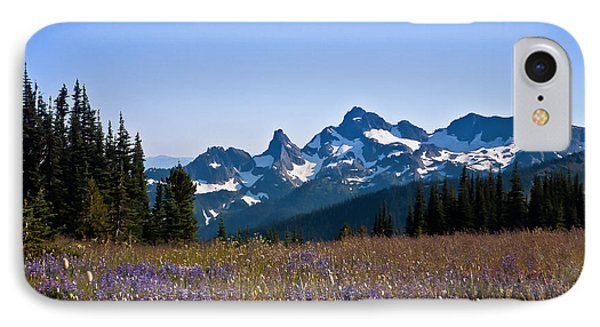 Wildflowers In The Cascades IPhone Case by Ronald Lutz