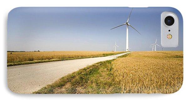 Wind Turbine, Humberside, England Phone Case by John Short