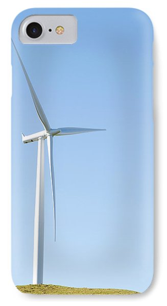 Wind Turbine  Phone Case by Les Cunliffe