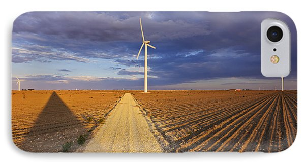 Wind Turbine Shadow Phone Case by Jeremy Woodhouse
