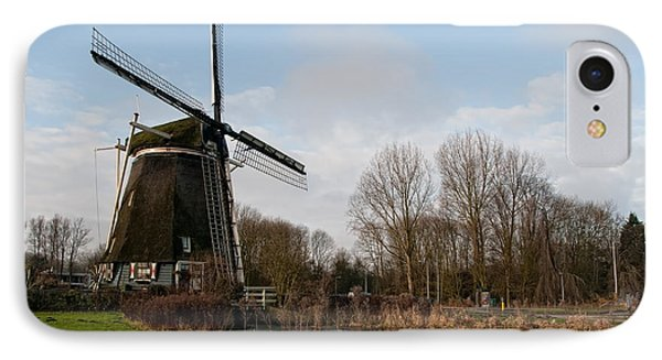 IPhone Case featuring the digital art Windmill In Amsterdam by Carol Ailles