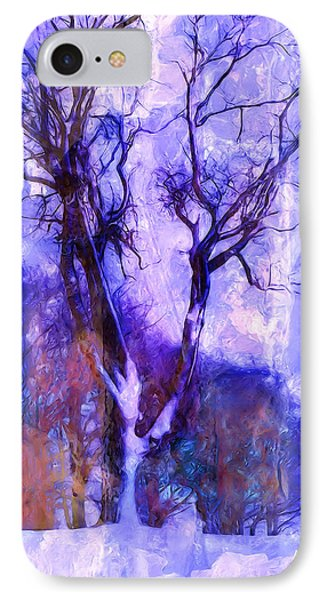 Winter Tree Phone Case by Ron Jones