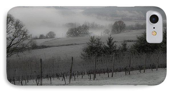 Winter Vineyard Phone Case by Jean Noren