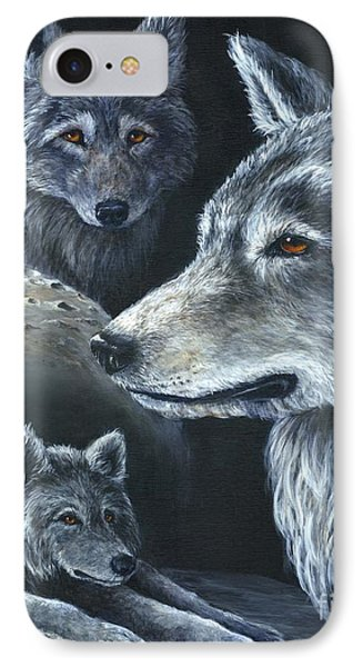 Wolf Trio IPhone Case by Sharon Molinaro
