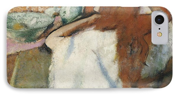 Woman At Her Toilet Phone Case by Edgar Degas