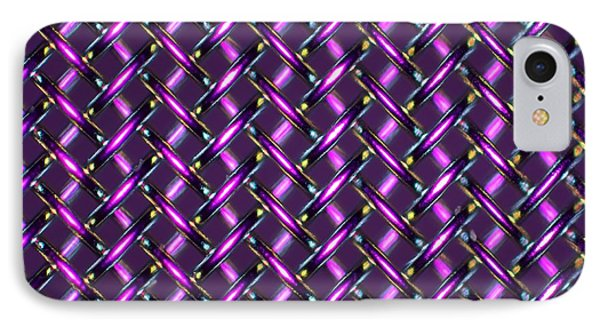 Woven Stainless Steel, Light Micrograph IPhone Case by Pasieka