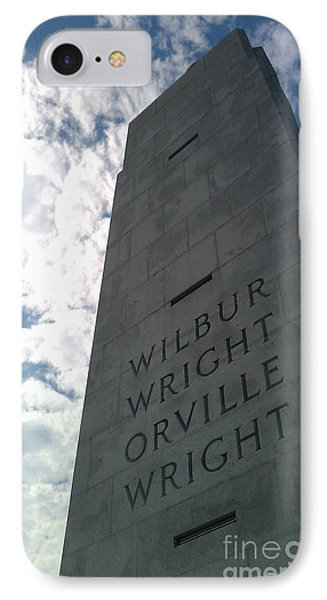 Wright Brothers Memorial IPhone Case by Tony Cooper