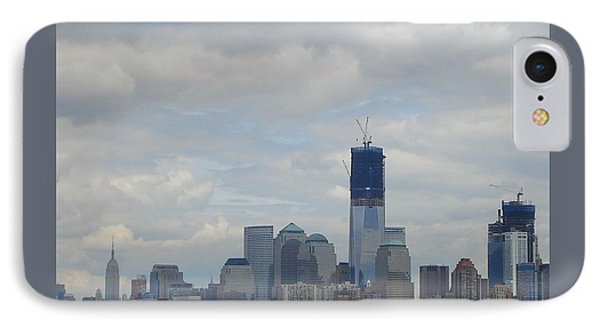 1 Wtc Under Construction IPhone Case by Patricia Overmoyer