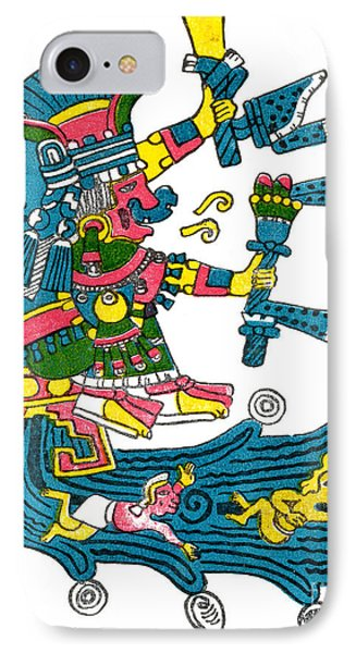 Xochiquetzal, Aztec Goddess Of Beauty & Phone Case by Photo Researchers