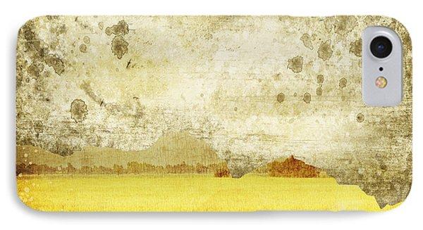 Yellow Field On Old Grunge Paper Phone Case by Setsiri Silapasuwanchai