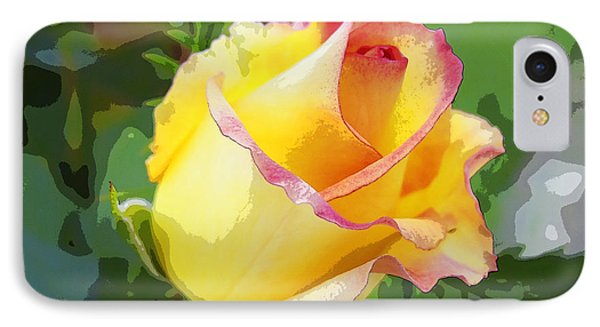Yellow Rose IPhone Case by Anne Mott