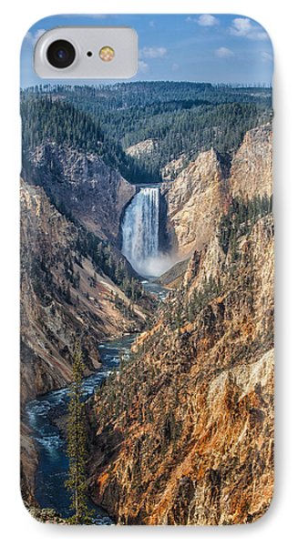 Yellowstone Lower Falls IPhone Case by Ronald Lutz