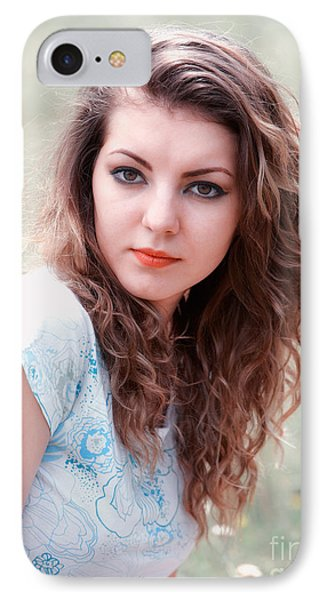 Young Woman Outdoor Phone Case by Gabriela Insuratelu