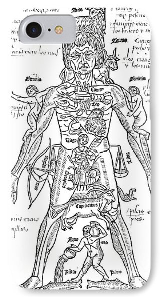 Zodiac Man, Medical Astrology Phone Case by Science Source
