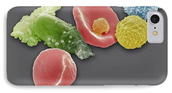 Blood Cells, Sem Phone Case by Steve Gschmeissner