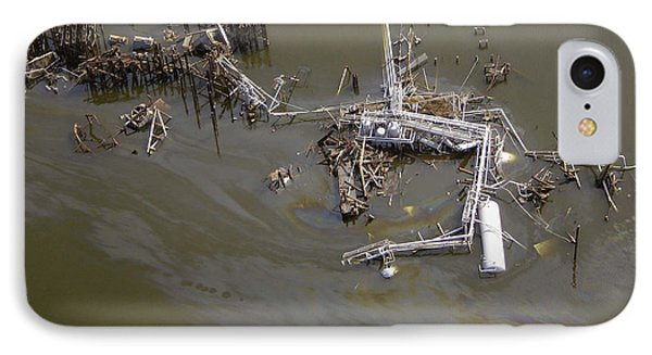 Hurricane Katrina Damage Phone Case by Science Source