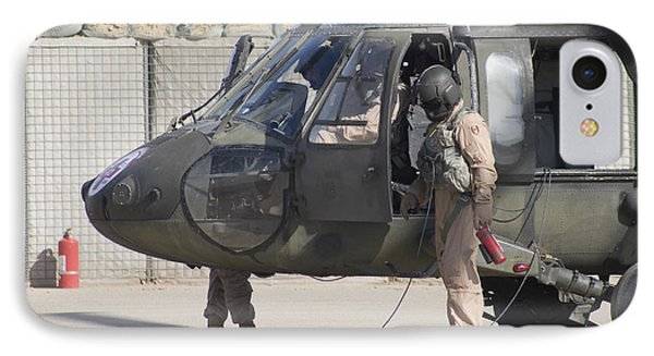A Uh-60 Blackhawk Medivac Helicopter Phone Case by Terry Moore