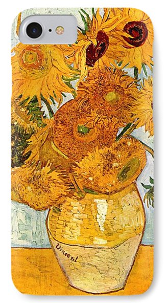 12 Sunflowers In A Vase Phone Case by Sumit Mehndiratta