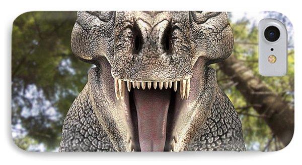 Tyrannosaurus Rex Dinosaur Phone Case by Roger Harris