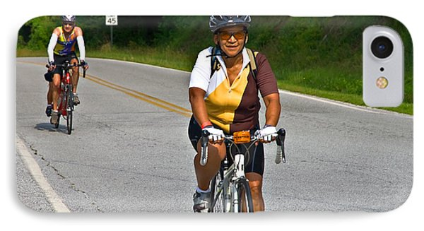 Bicycle Ride Across Georgia Phone Case by Susan Leggett