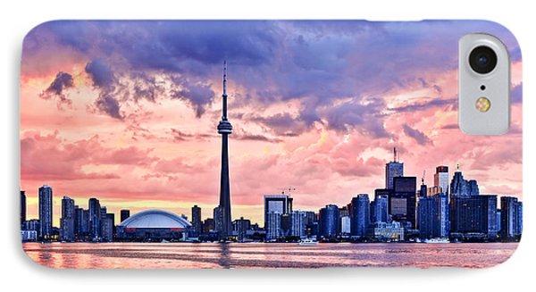 Toronto Sunset Skyline IPhone Case by Elena Elisseeva
