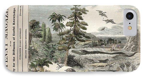 1833 Penny Magazine Extinct Animals Color Phone Case by Paul D Stewart