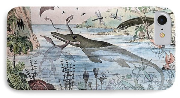 1834 Guerin Engraving 'extinct Animals Phone Case by Paul D Stewart