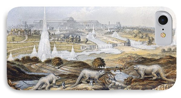 1854 Crystal Palace Dinosaurs By Baxter 1 Phone Case by Paul D Stewart