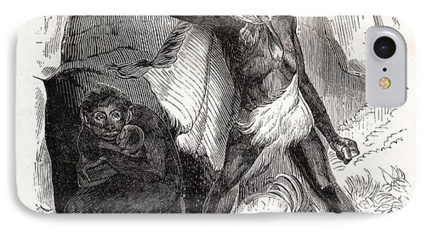 1861 Fossil Man By Boitard Phone Case by Paul D Stewart