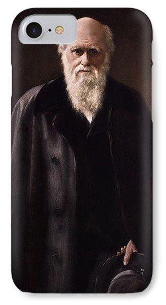 1881 Charles Darwin Portrait Aftr Collier Phone Case by Paul D Stewart