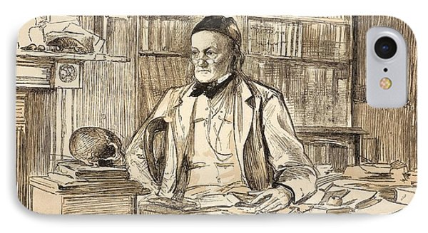 1883 Richard Owen's Study Ex Bmnh Phone Case by Paul D Stewart