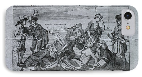 18th Century Political Satire IPhone Case by Omikron