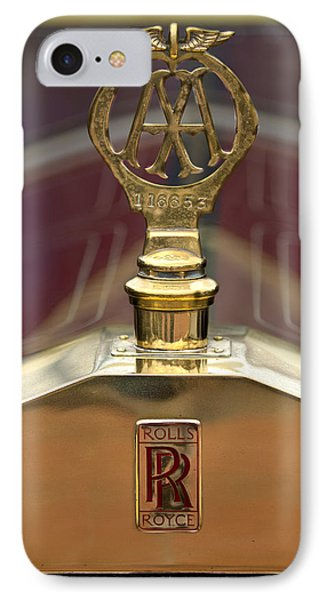 1910 Rolls-royce Silver Ghost Balloon Hood Ornament Phone Case by Jill Reger