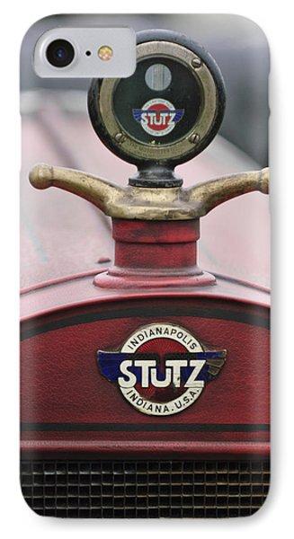 1916 Stutz Series B Bearcat Hood Ornament Phone Case by Jill Reger
