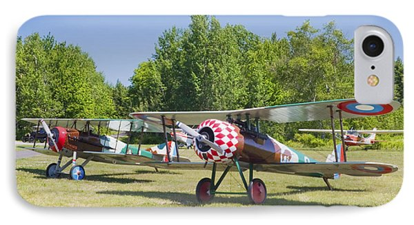 1917 Nieuport 28c.1 World War One Antique Fighter Biplane Canvas Poster Print IPhone Case by Keith Webber Jr