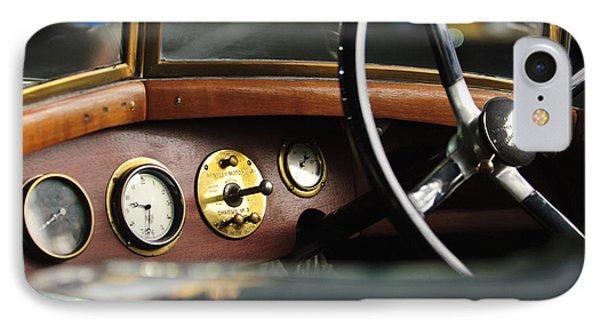 1921 Bentley  Instruments And Steering Wheel Phone Case by Jill Reger
