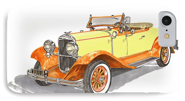 1929 Chrysler 65 Roadster IPhone Case by Jack Pumphrey