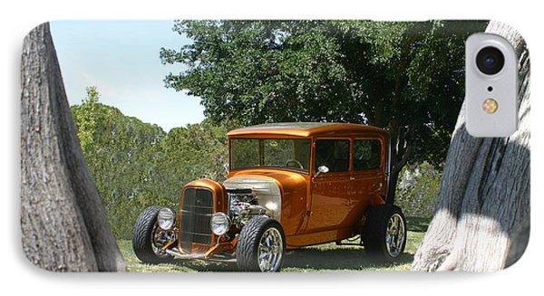 1929 Ford Butter Scorch Orange Phone Case by Jack Pumphrey