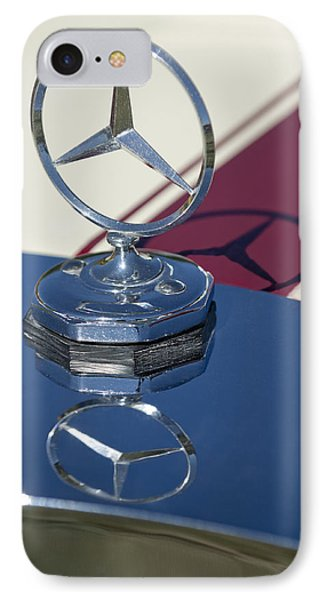 1929 Mercedes-benz Gazelle Touring Hood Ornament Phone Case by Jill Reger