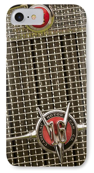 1930 Cadillac 452 Fleetwood Grille Emblem Phone Case by Jill Reger