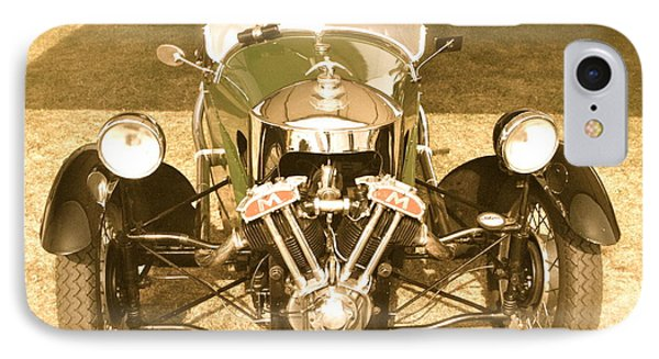 IPhone Case featuring the photograph 1930s Three Wheel Morgan by John Colley