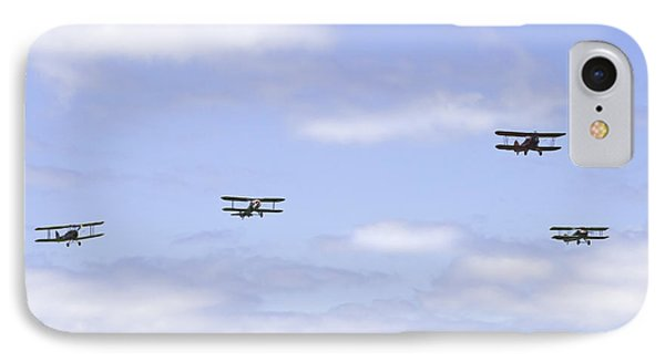 1931 Waco Ubf2 1917 Spad Xiiici1917 Nieuport 28c1 And De Havilland Dh82a Tiger Moth Photo Print IPhone Case by Keith Webber Jr