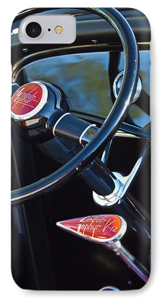 1932 Hot Rod Lincoln V12 Steering Wheel Emblem Phone Case by Jill Reger