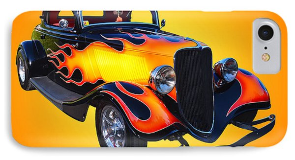 1934 Ford 3 Window Coupe Hotrod IPhone Case by Jim Carrell