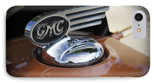 1936 Gmc Pickup Truck Hood Ornament Phone Case by Robin Lewis