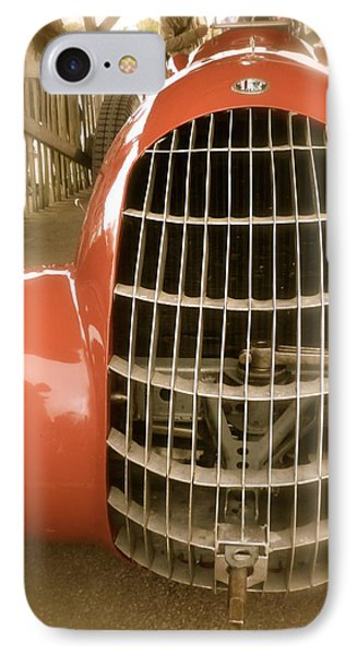 IPhone Case featuring the photograph 1938 Alfa Romeo 308c Front Grill by John Colley