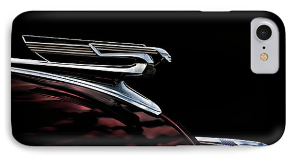 1940 Chevy Hood Ornament IPhone Case by Douglas Pittman