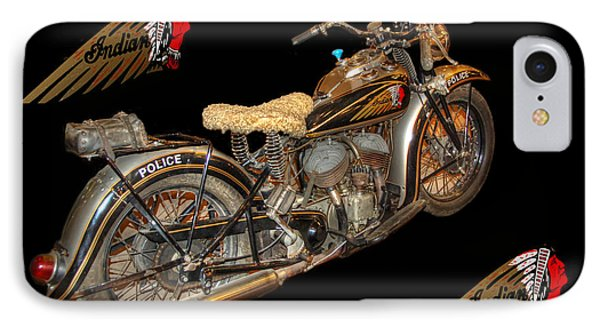 1940 Indian Scout Police Unit Version 3 Phone Case by Ken Smith