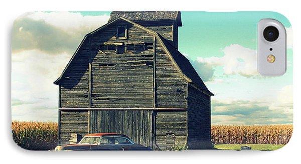 1950 Cadillac Barn Cornfield IPhone Case by Lyle Hatch